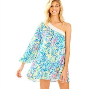 Lilly Pulitzer Shealyn One Shoulder Coverup Dress